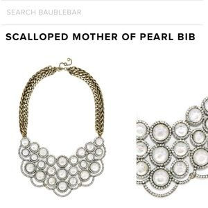 BaubleBar Scalloped Mother of Pearl bib